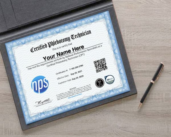 Certification Phlebotomy Credentials
