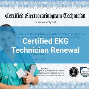 EKG Renewal Certification