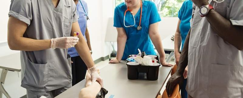 Class Draws Blood Phlebotomy Training Arm Instructor 2
